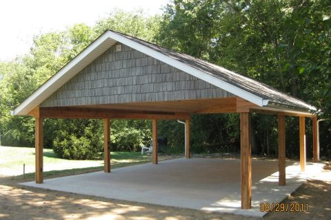 Nice custom cedar lined shelter!